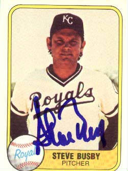 Autographed Steve Busby