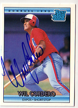 Autographed Will Cordero - Rated Rookie