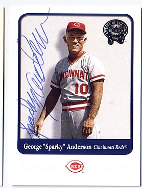 Autographed Sparky Anderson
