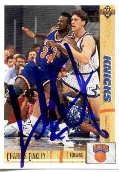 Autographed Charles Oakley