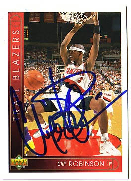 Autographed Cliff Robinson