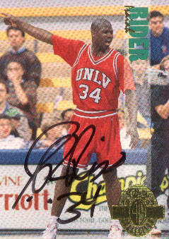 Autographed Isiah Rider