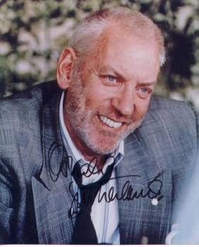 Autographed Donald Sutherland