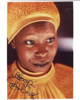 Autographed Whoopi Goldberg