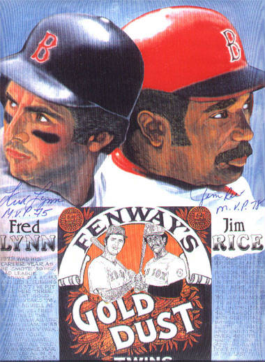 Autographed Fred Lynn & Jim Rice