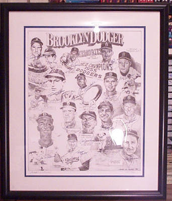 Autographed Brooklyn Dodgers Legends
