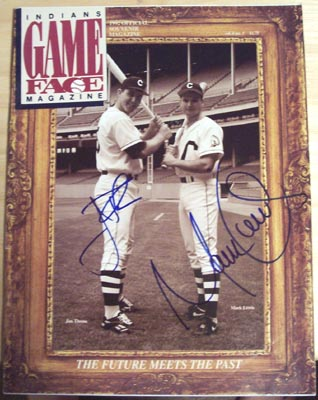 Autographed Jim Thome & Mark Lewis