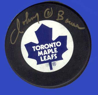 Autographed Johnny Bower
