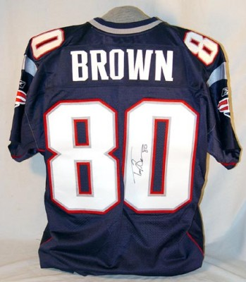 Troy Brown Autographed Jersey