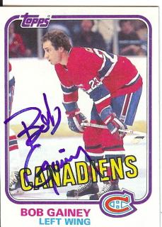 best website 6a50e 2b6a1 Bob Gainey Autographed Card