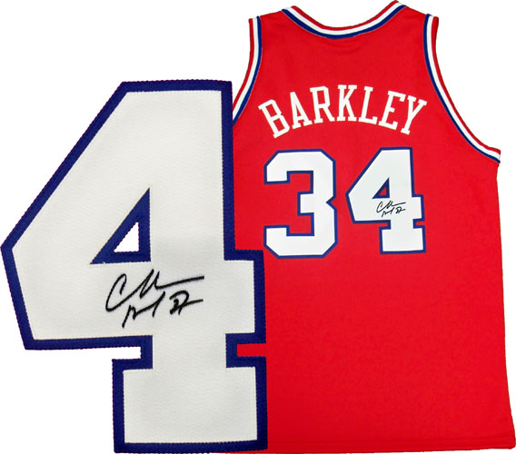 cb2dd9e0398a Official Philadelphia 76ers Jersey autographed by Charles Barkley